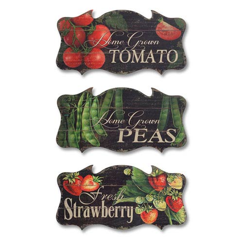 Garden Wall Plaque, Set of Three