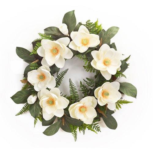 Melrose International Magnolia with Mixed Foliage Wreath