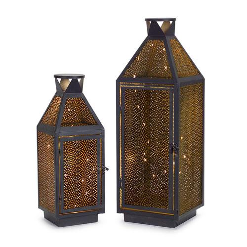 LED Lanterns, Set of Two