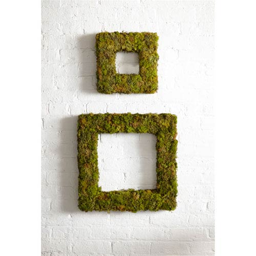 Moss Wreaths, Set of Two