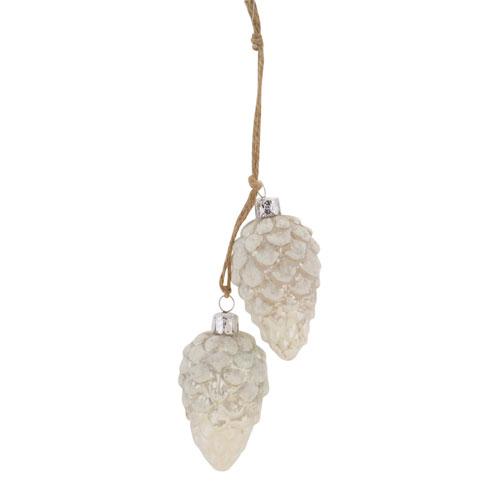 Melrose International Pine Cone Bundle Ornament, Set of Twelve