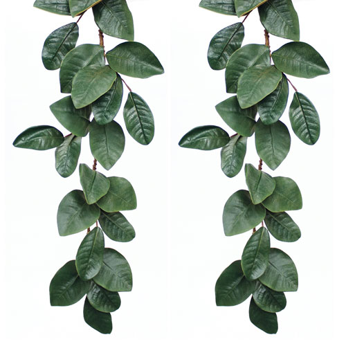 Magnolia Leaf 5 Ft. Garland, Set of Two