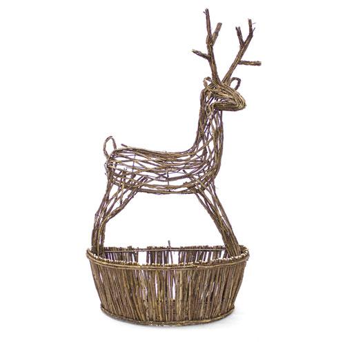 Melrose International Reindeer Basket, Set of Two