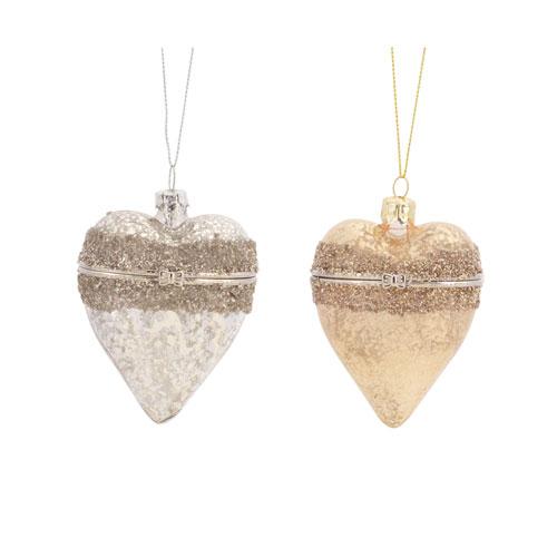 Heart Box Ornament, Set of Twelve