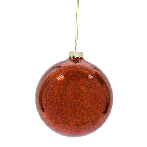 Melrose International Red Ball Ornament, Set of Twelve