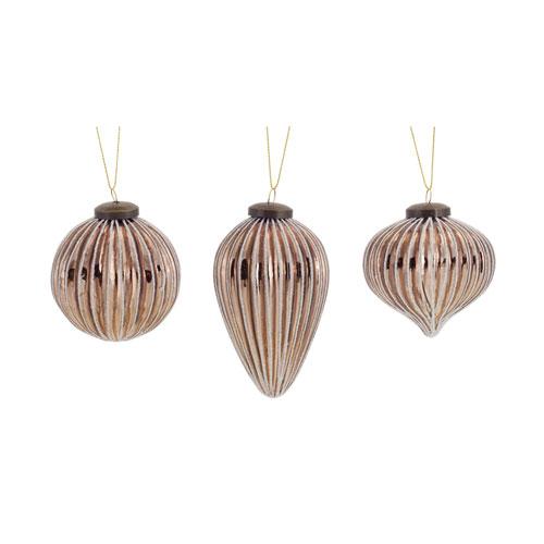 Melrose International Small Assorted Ornament, Set of Twelve