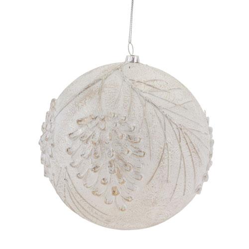 Ball Pinecone Ornament, Set of Six