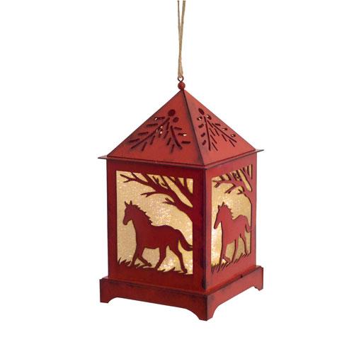Horse Lantern Ornament with LED, Set of Six