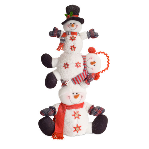 Snowman Stack, Set of Two
