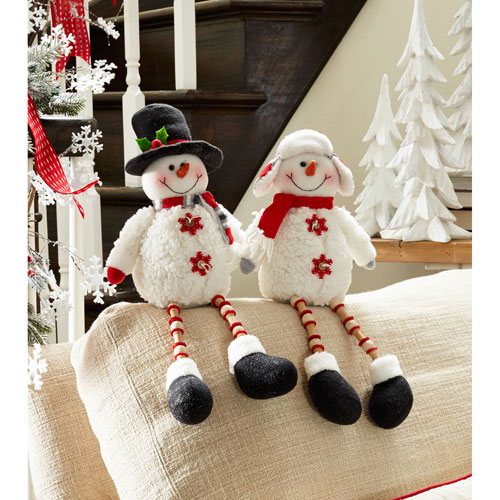 Shelf Sitting Snowman, Set of Two
