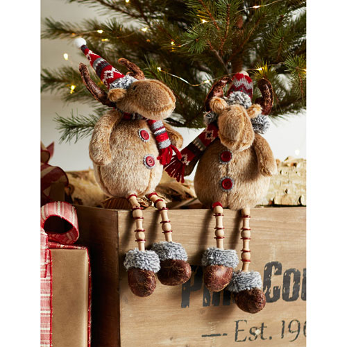 Shelf Sitting Deer, Set of Four