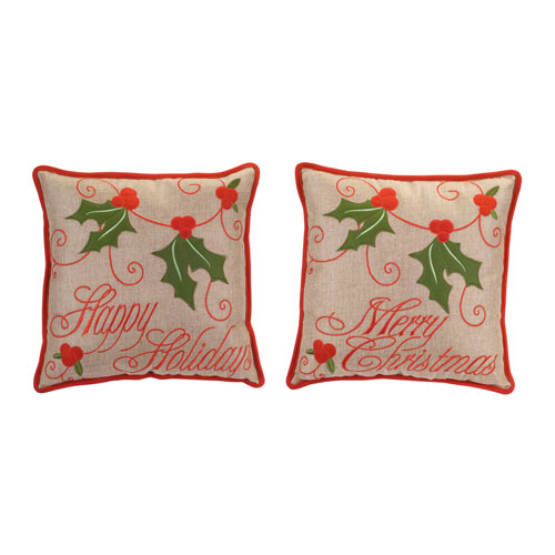 Holly Pillow, Set of Two