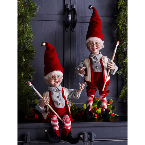 Elf with Paintbrush, Set of Two