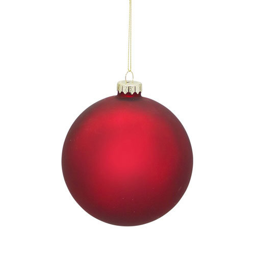 Red Matte Ball Ornament, Set of Six