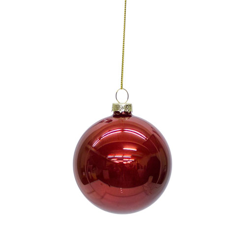 Melrose International Shiny Ball Ornament, Set of Six