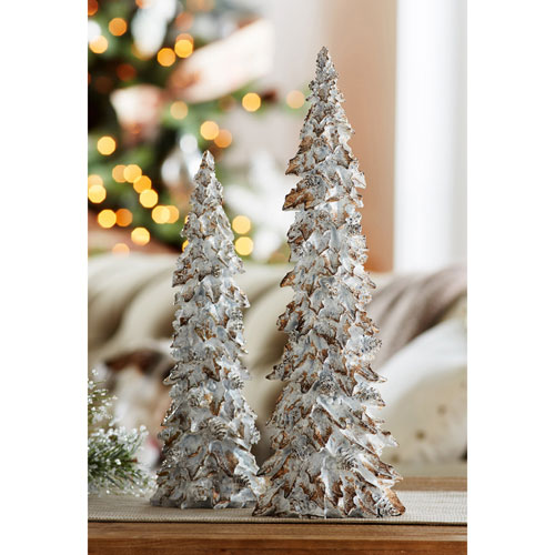 Holly Leaf Tree, Set of Two