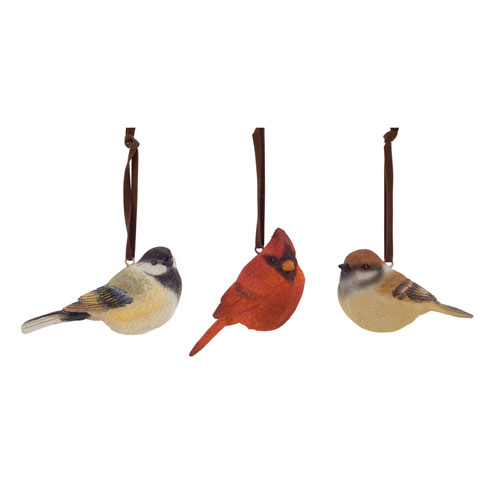 Assorted Bird Ornament, Set of Six