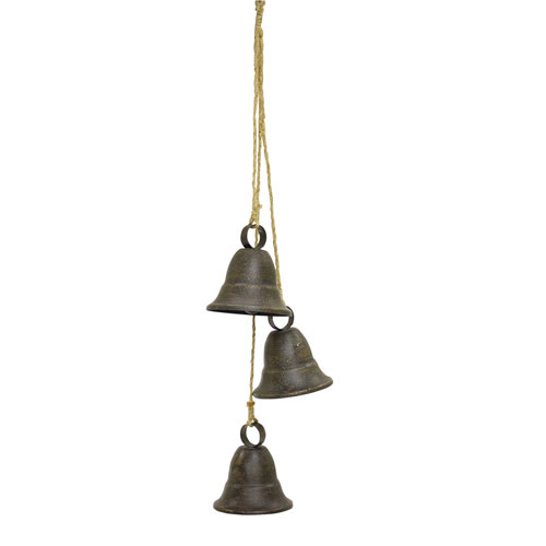 Three Bells on Rope, Set of Two