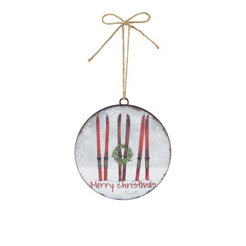 Ski Disc Ornament, Set of Twelve