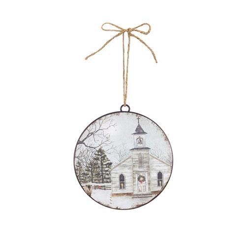 Church Disc Ornament, Set of Twelve