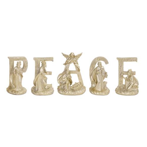 PEACE Nativity, Set of Three