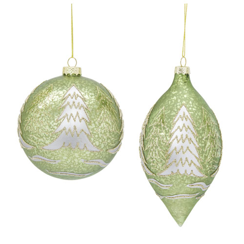 Ornament with Tree Design, Set of Six