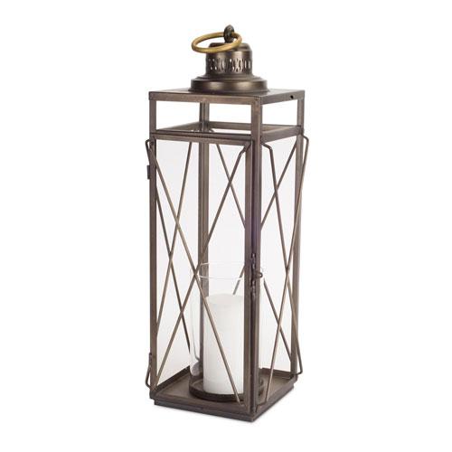 Antique Gold Short Lantern