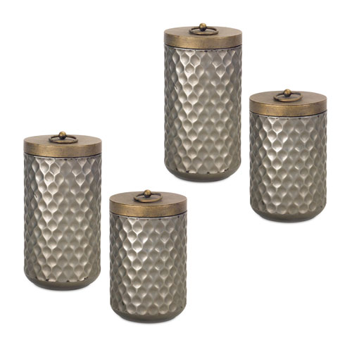 Antique Gold Canister, Set of Four