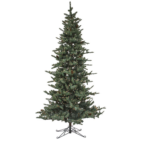 Melrose International Pine 9 Ft. Tree Pre-Lit with 750 Warm Lights