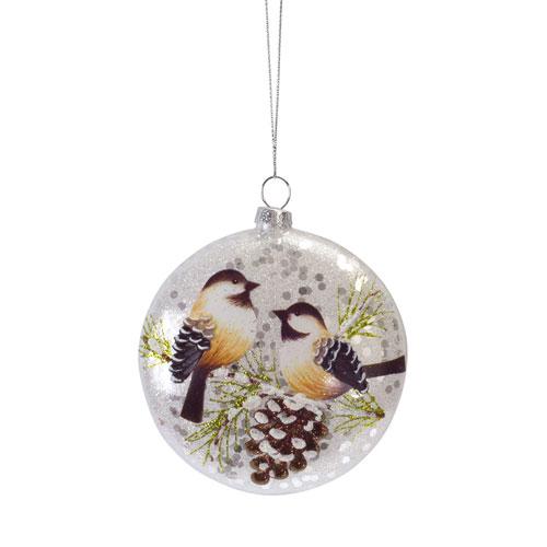 Melrose International Bird Disc Ornament, Set of Twelve