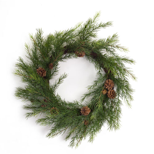 Melrose International Pine 22 In. Wreath, Set of Two