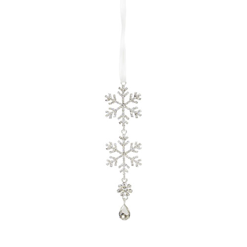 Jewel Tiered Snowflake Ornament, Set of Twelve