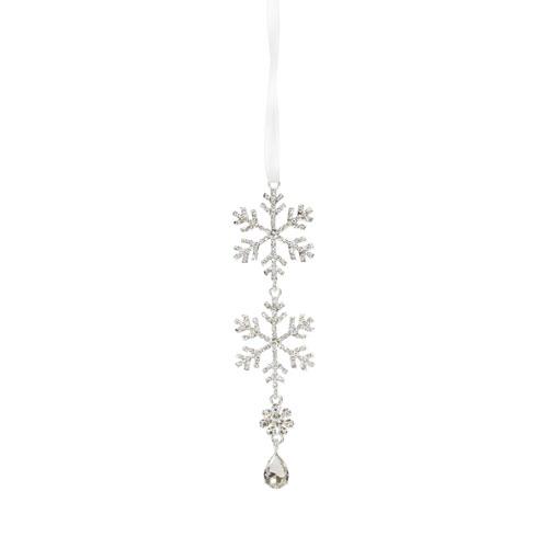 Jewel Tiered Snowflake Ornament, Set of Twelve