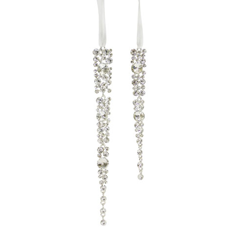 Jewel Icicle Ornaments, Set of Twelve