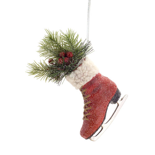 Melrose International Skate with Pine Ornament, Set of Four