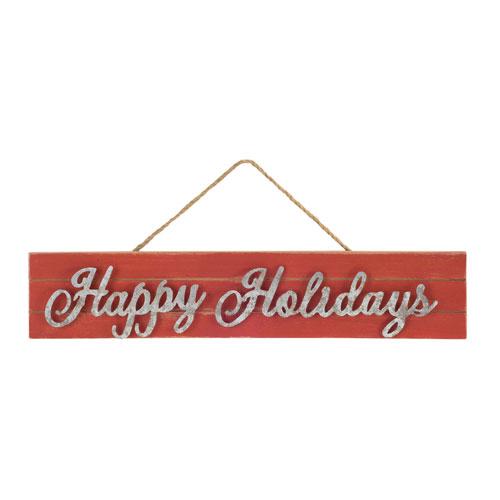 Happy Holidays Sign, Set of Six