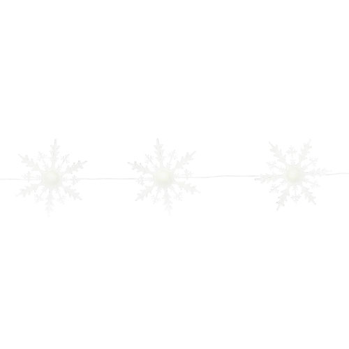 Five Lighted Snowflake Strand