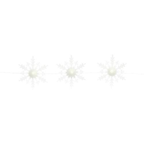Three Lighted Snowflake Strand