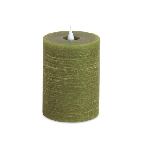 Melrose International Simplux Green LED Designer Candle, Set of Two