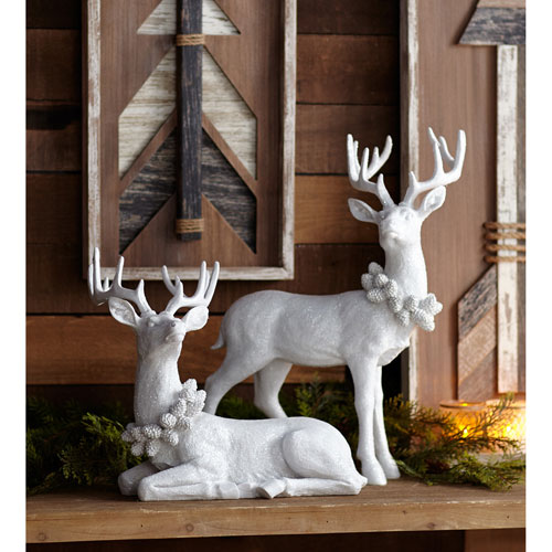 White Deer, Set of Two