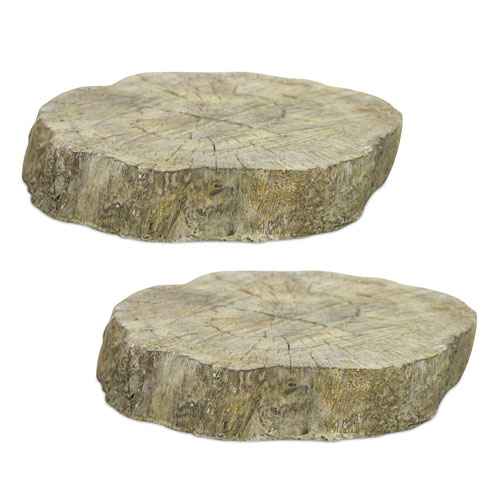 Tree Trunk Pedestal, Set of Two