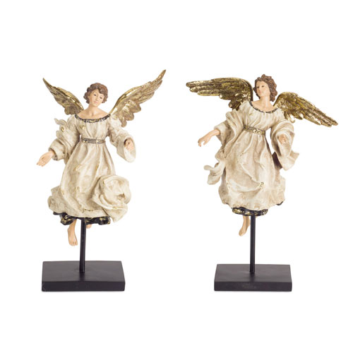 Angel on Stand, Set of Two