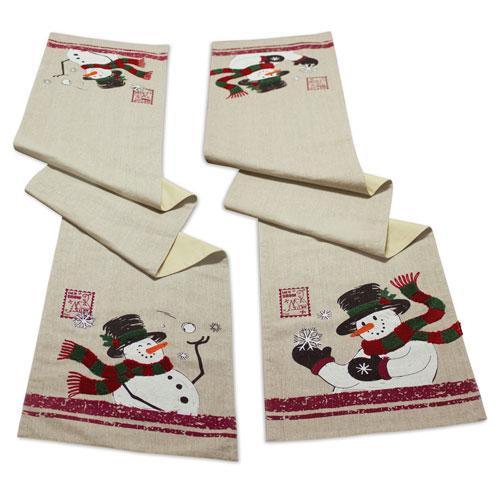 Snowman Table Runner, Set of Two
