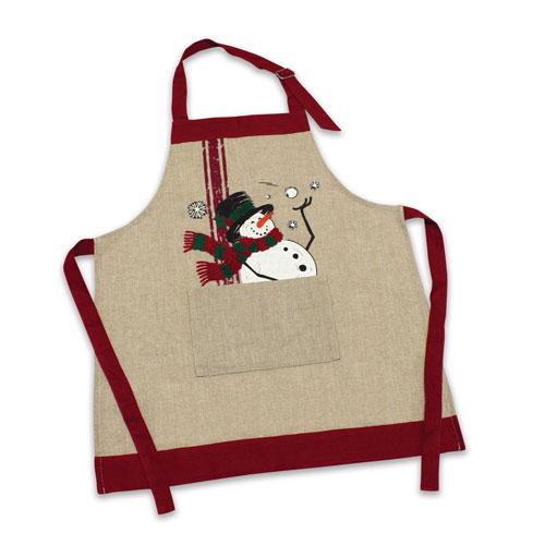 Melrose International Child Snowman Apron, Set of Two