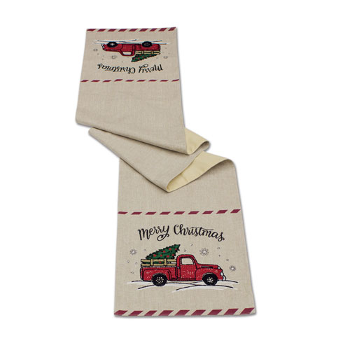 Red Truck Table Runner, Set of Two