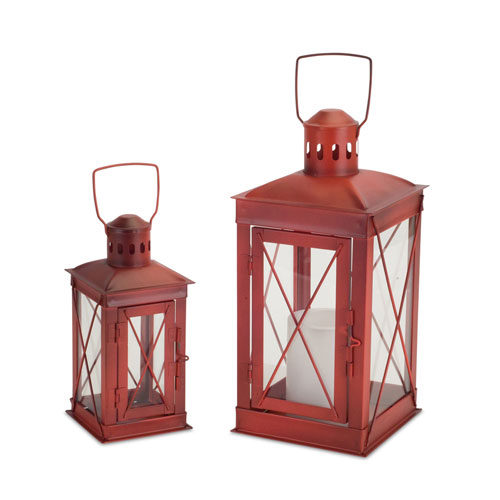 Red Lantern, Set of Two
