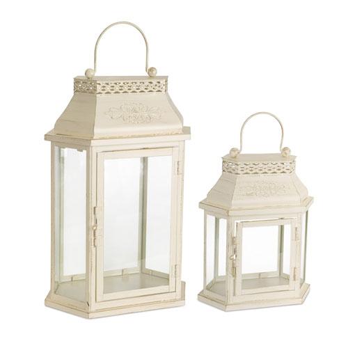 Ivory Lantern, Set of Two