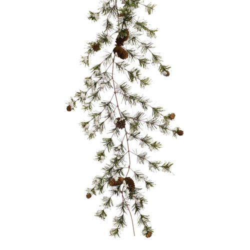 Snowy Pine Garland, Set of Two