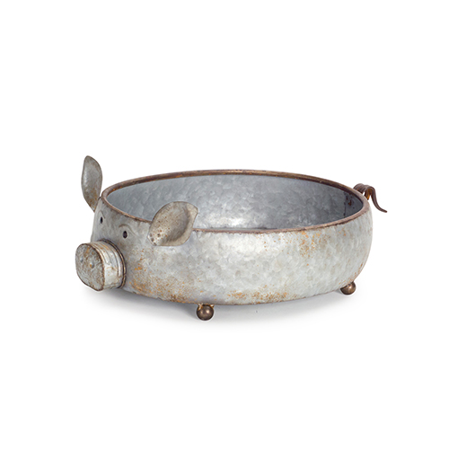 Grey Pig Container, Set of 2