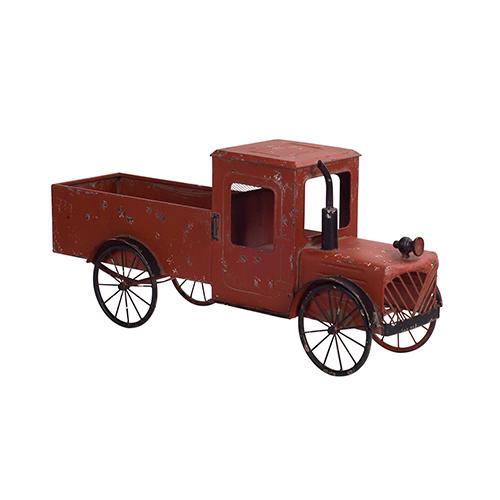 Red Rustic Pickup Truck
